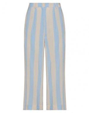 Повседневные брюки ICHI. Цвет: небесно-голубой