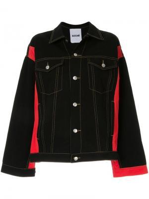 Джинсовая куртка оверсайз Koché. Цвет: черный