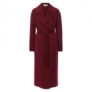 Шерстяное пальто MICHAEL Kors. Цвет: красный