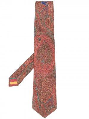 Галстук с принтом пейсли Etro. Цвет: красный