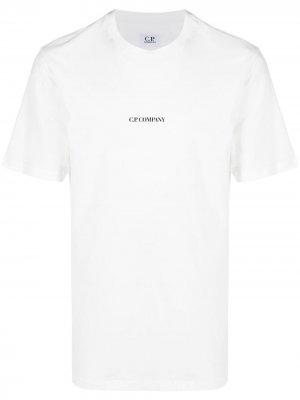 Футболка с логотипом C.P. Company. Цвет: белый