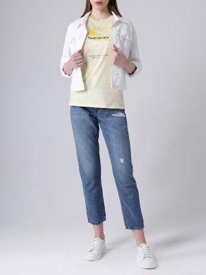 Куртка джинсовая BOSS. Цвет: белый