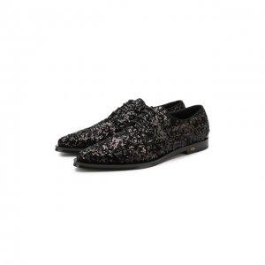 Дерби Millennials Dolce & Gabbana. Цвет: чёрный