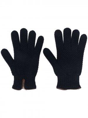 Перчатки аранской вязки Lady Anne. Цвет: синий