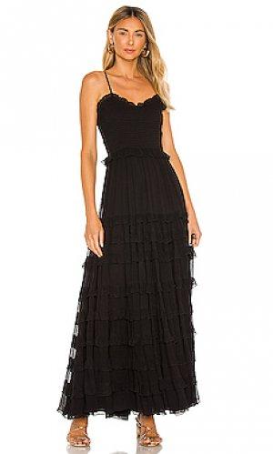 Макси платье mimi MAJORELLE. Цвет: черный