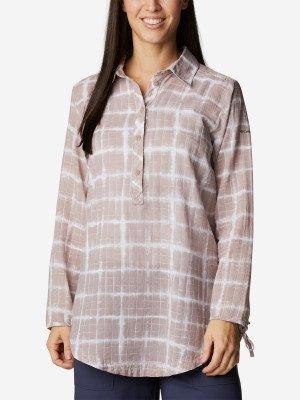 Рубашка женская Camp Henry™ II, размер 46 Columbia. Цвет: бежевый