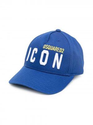 Бейсболка с вышитым логотипом Dsquared2 Kids. Цвет: синий