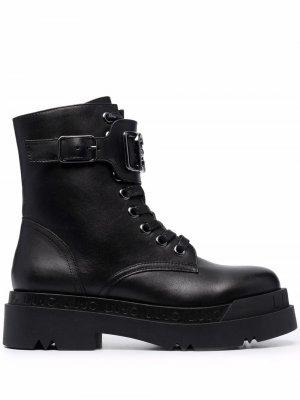 Ботинки Love 15 с пряжкой LIU JO. Цвет: черный