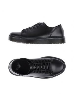 Низкие кеды и кроссовки DR. MARTENS. Цвет: черный