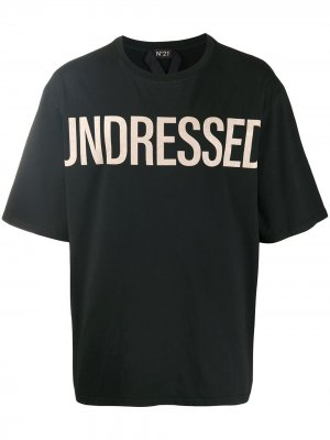 Slogan-print T-shirt Nº21. Цвет: черный