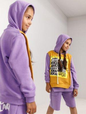 Худи KIDS ART Black Star Wear. Цвет: фиолетовый