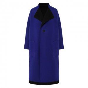 Двустороннее пальто из смеси шерсти и кашемира Issey Miyake. Цвет: синий