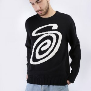 Свитер Curly S Sweater Stussy