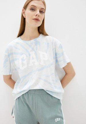 Футболка Gap. Цвет: голубой