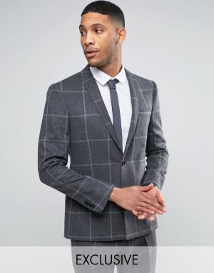 Приталенный пиджак с ровным низом -Серый Noak