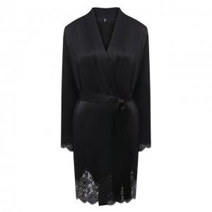 Шелковый халат Aubade. Цвет: чёрный