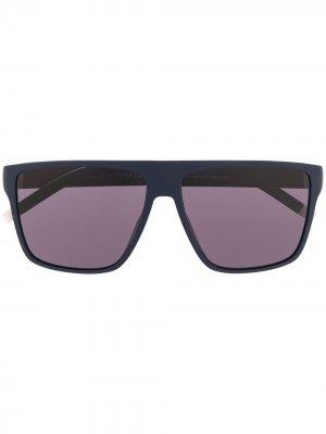 Солнцезащитные очки в прямоугольной оправе Tommy Hilfiger. Цвет: синий