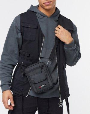 Черная сумка-кошелек через плечо Road-Черный Element