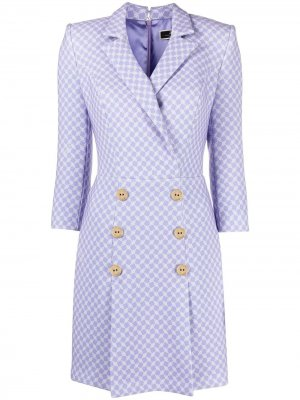 Платье-блейзер с принтом Elisabetta Franchi. Цвет: фиолетовый