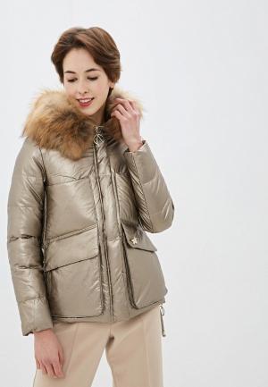 Куртка утепленная Lusio. Цвет: золотой