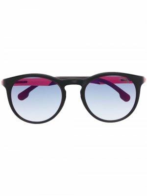 Солнцезащитные очки в круглой оправе Carrera. Цвет: черный