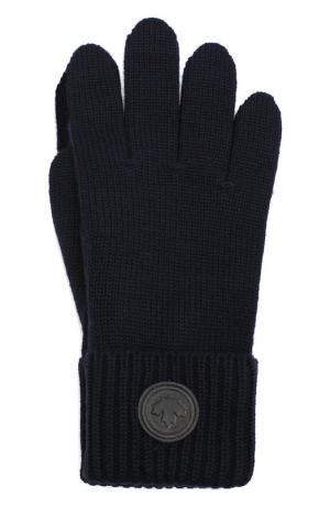 Шерстяные перчатки Dsquared2. Цвет: темно-синий