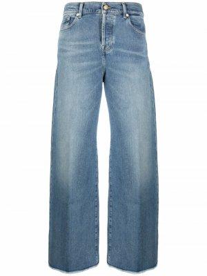 Широкие джинсы Zoey с завышенной талией 7 For All Mankind. Цвет: синий