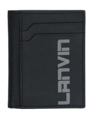 Чехол для документов LANVIN. Цвет: черный