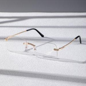 Мужские очки без оправы SHEIN. Цвет: прозрачный
