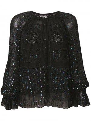 Блузка Birma Antik Batik. Цвет: черный
