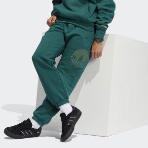 Брюки Deco Trefoil Originals adidas. Цвет: зеленый
