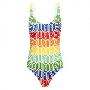 Слитный купальник Dsquared2. Цвет: разноцветный