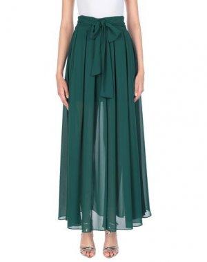Длинная юбка COMPAGNIA ITALIANA. Цвет: зеленый