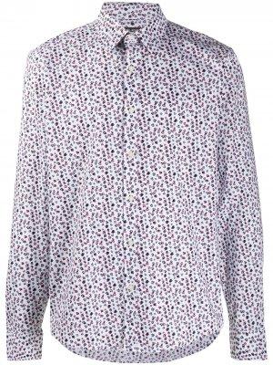 Рубашка с цветочным принтом Michael Kors Collection. Цвет: белый
