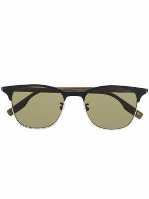 Солнцезащитные очки в квадратной оправе Montblanc. Цвет: черный
