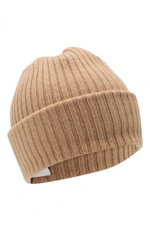 Шерстяная шапка Burberry. Цвет: бежевый