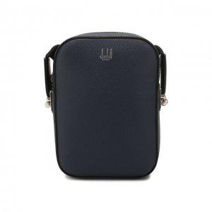 Кожаная сумка Dunhill. Цвет: синий