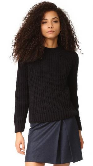 Пуловер Velvet из толстого трикотажа Maison Kitsune. Цвет: голубой