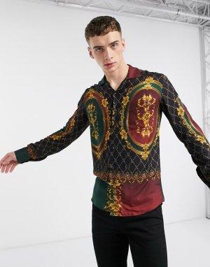 Стеганая разноцветная рубашка с длинными рукавами -Мульти Criminal Damage