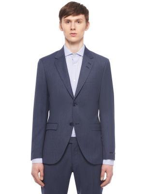 Костюмный пиджак из шерсти TIGER OF SWEDEN. Цвет: синий