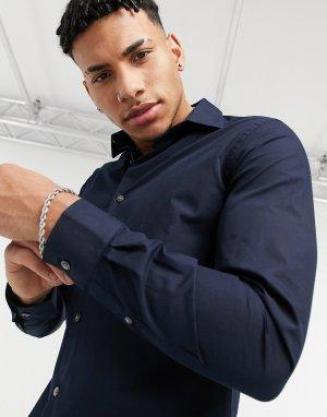 Приталенная рубашка из поплина -Темно-синий French Connection