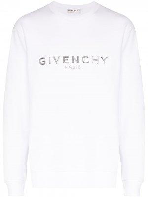 Logo-appliqued sweatshirt Givenchy. Цвет: белый