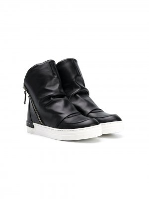 Ботинки на молнии сбоку Cinzia Araia Kids. Цвет: черный