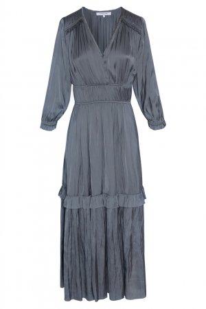 Серое платье с оборками Gerard Darel. Цвет: серый