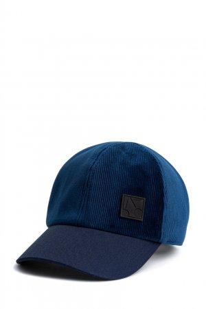 Темно-синяя велюровая кепка Bonpoint. Цвет: синий