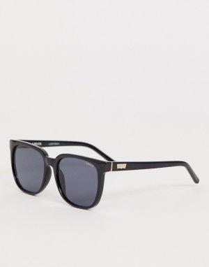 Солнцезащитные очки в черной квадратной оправе Levis-Черный Levi's