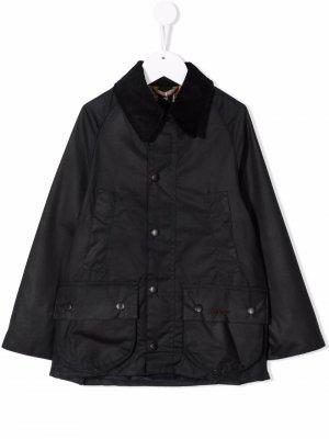 Вощеная куртка Barbour Kids. Цвет: синий