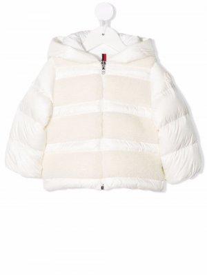 Shearling padded coat Moncler Enfant. Цвет: белый