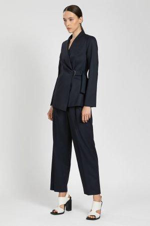 Прямые укороченные брюки VASSA&Co. Цвет: синий