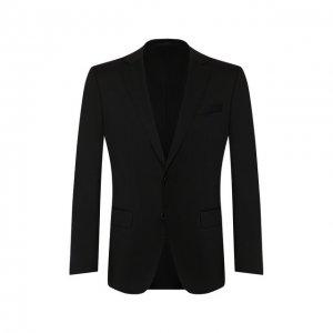Шерстяной пиджак BOSS. Цвет: чёрный
